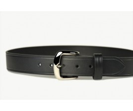 Mens Leather Belt Black 38mm-107Q