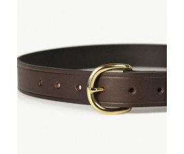 Mens Leather Belt Brown 32mm-107H