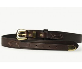 Mens Ranger Belt With Tip Brown-102BT