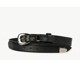 Mens Ranger Belt With Tip Black-102IT