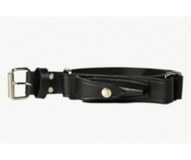 Mens Hobble/Ringer Belt with Squares & Pouch-108G
